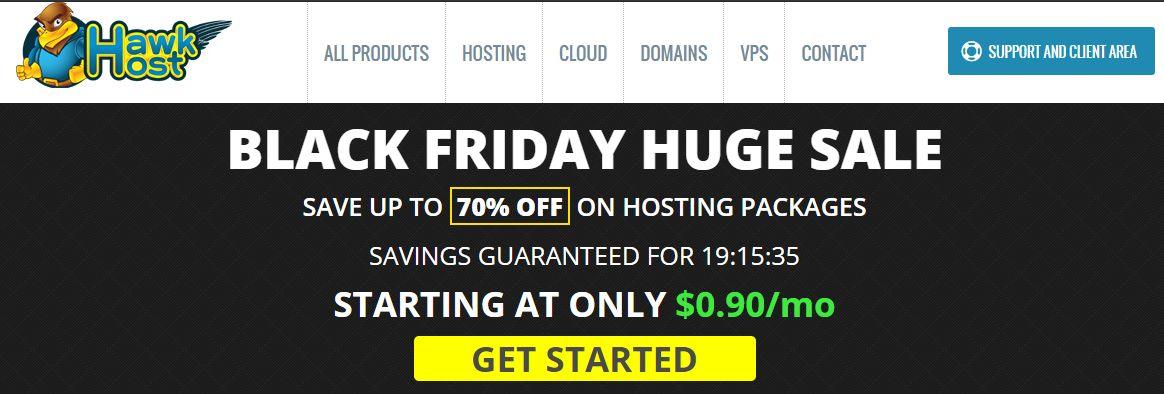 [BF 2020] Hawkhost giảm giá đến 70% cho các gói hosting dịp Black Friday 2020