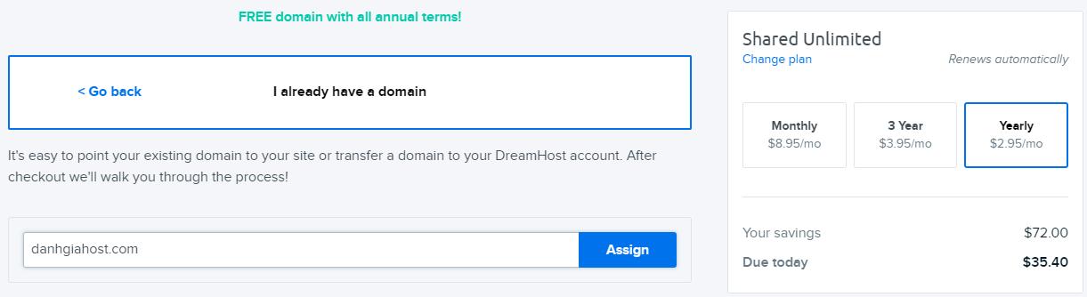DreamHost khuyến mãi, giảm đến 79% cho gói unlimited shared hosting