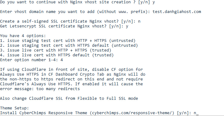 Hướng dẫn cài đặt acmetool.sh để sử dụng Let's Encrypt SSL trên Centmin Mod