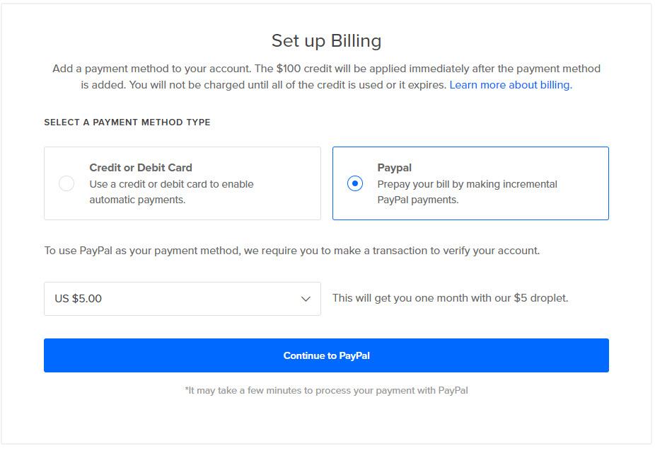 Hướng dẫn đăng ký DigitalOcean để nhận được 100 USD khuyến mãi