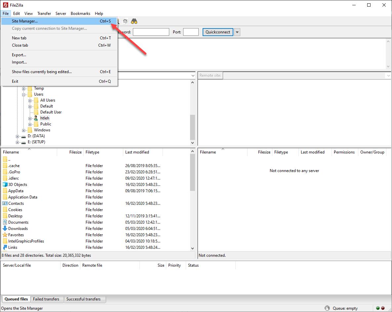 Hướng dẫn sử dụng FileZilla để upload, download, quản lý file và folder trên VPS qua giao thức SFTP
