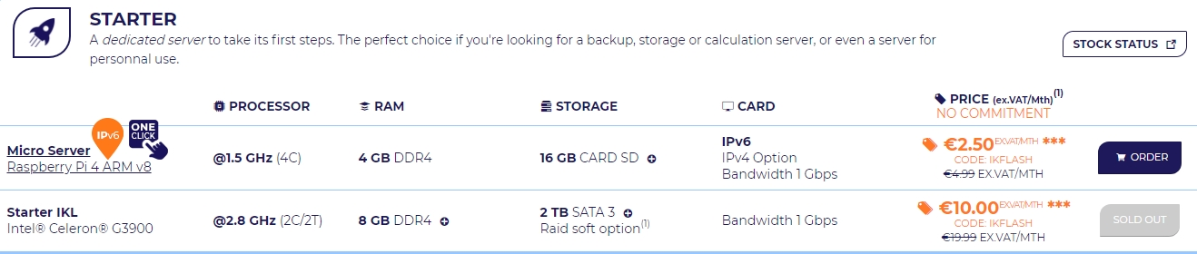 Ikoula giảm giá 50% life time cho nhiều gói dedicated server