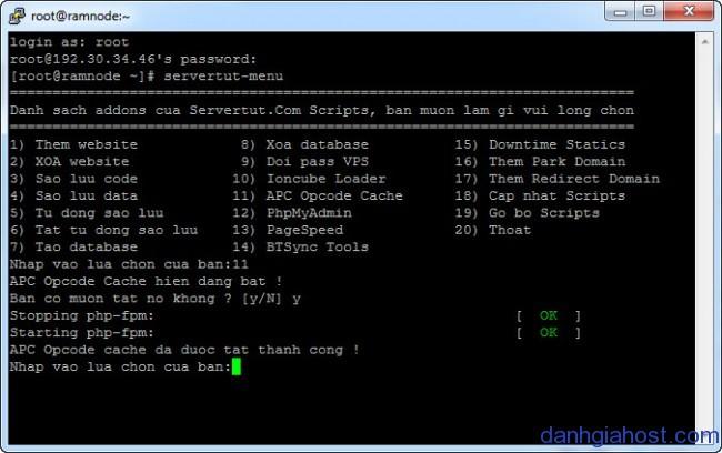 Servertut Script bài 3: Hướng dẫn sử dụng các chức năng trong menu chính