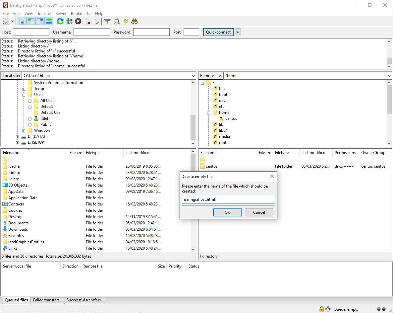 Sử dụng kết hợp FileZilla và Notepad++ để tạo và chỉnh sửa file trên VPS