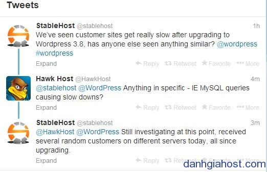 Wordpress 3.8 gây chậm site?